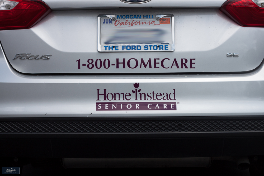 Home Instead-rear of car
