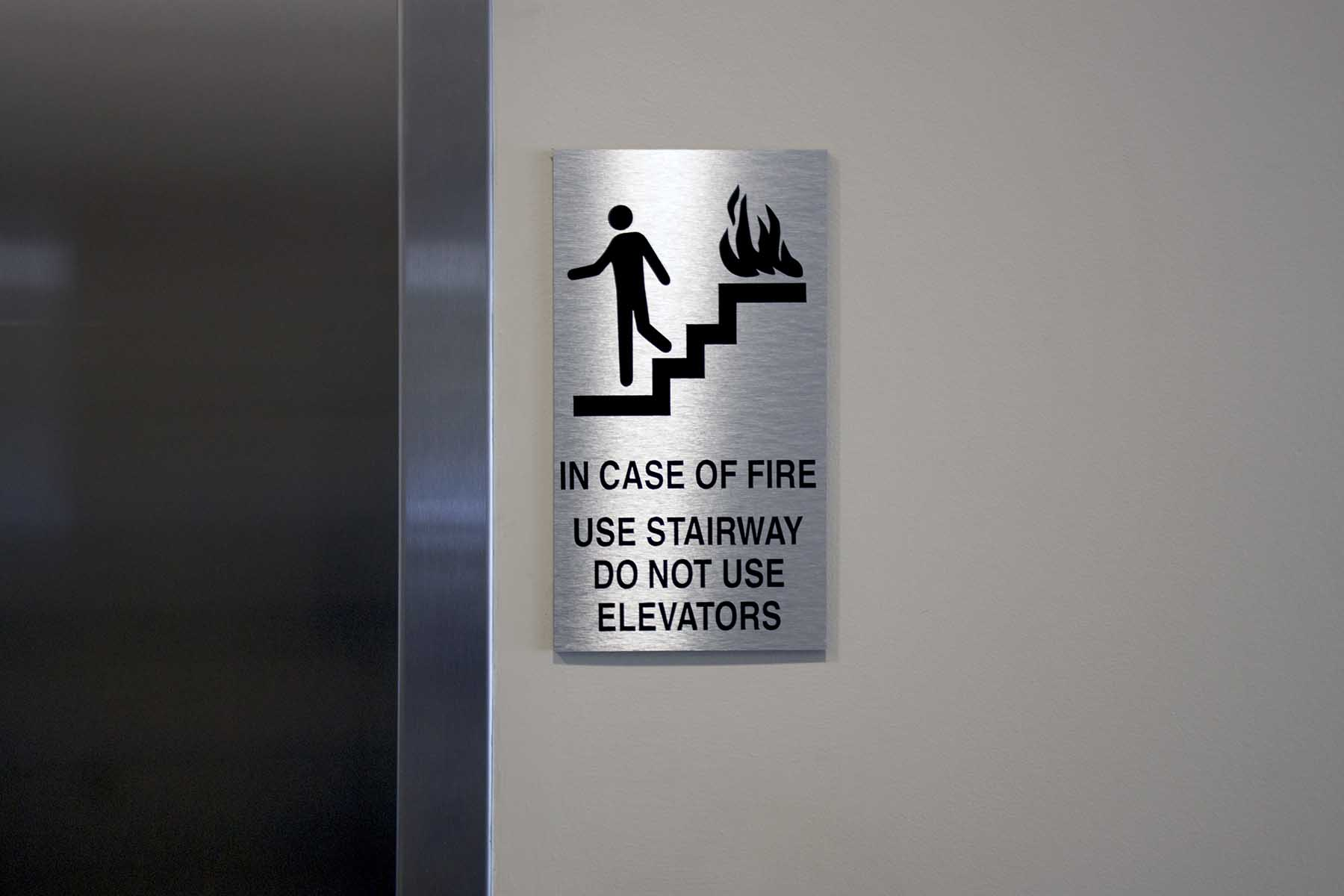 Fire Use Stairs Brushed
