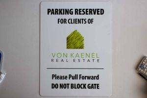 VK Parking Sign